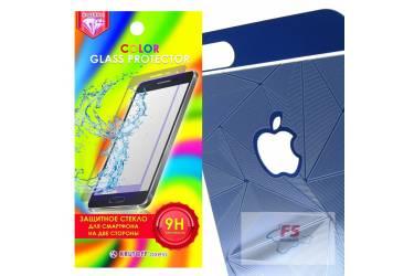Защитное стекло цветное Krutoff Group для iPhone 6/6S на две стороны с 3D-рисунком (blue)
