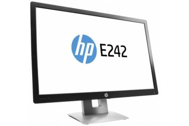 "Монитор HP 24"" EliteDisplay E242 черный IPS LED 16:10 матовая HAS Pivot 250cd 178гр/178гр 1920x1200 D-Sub DisplayPort FHD USB 6.23кг"