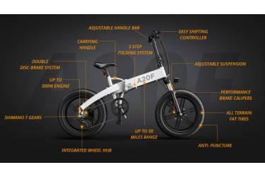 Электровелосипед Xiaomi Ado EBIKE A20F White