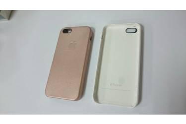 Накладка Iphone 7G (кожа) розовый
