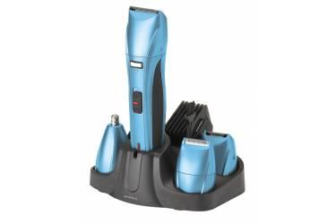 Машинка для стрижки Supra RS-404 сеть/аккумулятор синий/черный 3Вт 3в1