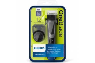 Триммер Philips OneBlade QP6510/20 черный (насадок в компл:1шт)