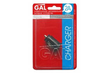 Зарядное устройство автомобильное Gal 2А USB  UC-2227
