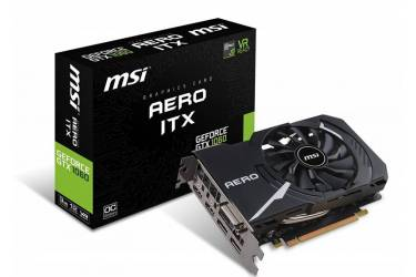 Видеокарта MSI PCI-E GTX 1060 AERO ITX 3G OC nVidia GeForce GTX 1060 3072Mb 192bit GDDR5 1544/8008 DVIx1/HDMIx2/DPx2/HDCP Ret