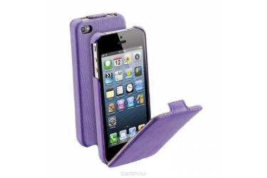 Чехол-книжка Aksberry для Apple iPhone 4/4s (фиолетовый)