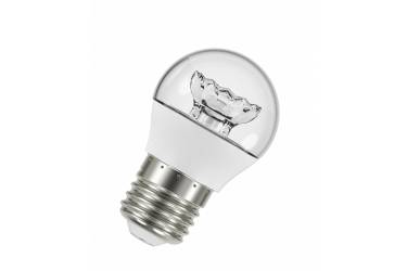 Лампа светодиодная OSRAM_G45_5.4W/830_E27 _470 lm _ШАР прозрачный_теплый свет
