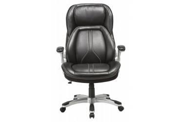 Кресло руководителя Бюрократ T-9919A/BLACK черный рец.кожа/кожзам