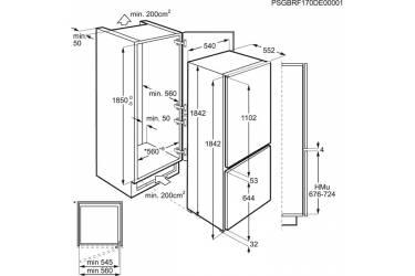 Холодильник Electrolux ENN93111AW белый (двухкамерный)