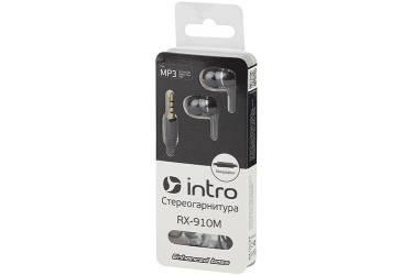 Наушники Intro RX-910M внутриканальные с микрофоном черные