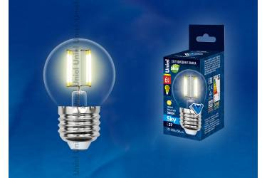 Лампа светодиодная Uniel LED-G45-6W/NW/4000K/E27/CL Sky шар прозр