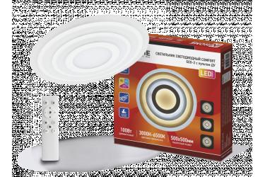 Светильник светодиодный COMFORT GEO-2 100Вт 230В 3000-6500К 7000Лм 500x55мм с пультом ДУ IN HOME
