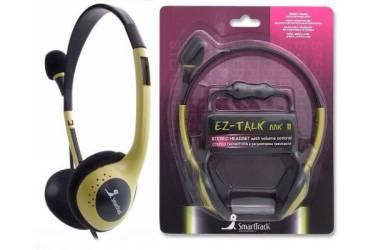 Гарнитура SmartBuy EZ-TALK MKII, рег.громк, кабель 2.0м, желтая