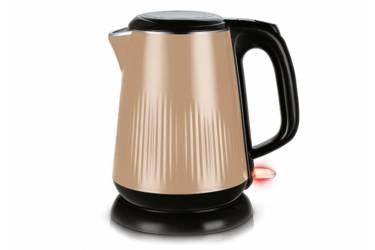 Чайник электрический Centek CT-1025 металл бежевый 1,8л 2000Вт 2е стенки