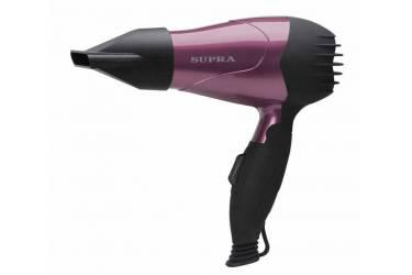 Фен Supra PHS-1001 1000Вт черный/фиолетовый