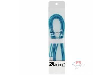 Кабель USB Krutoff для iPhone 5/5C/5S с магнитом (1m) голубой в коробке