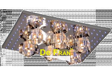 Люстра-Панель_DE FRAN_YL-X12301-6ACH пульт, LED 88_6*G9 _40Вт Абажур,  хром 450*330*105mm