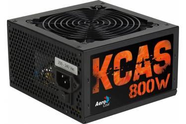 Блок питания Aerocool ATX 800W KCAS-800W 80+ bronze (24+4+4pin) APFC 120mm fan 7xSATA RTL