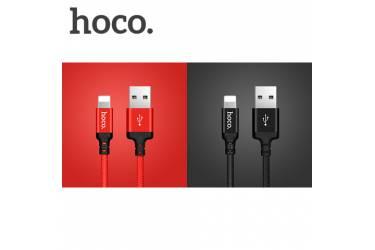 Кабель USB Hoco X14i Times speed Lightning 2M (красно-черный)