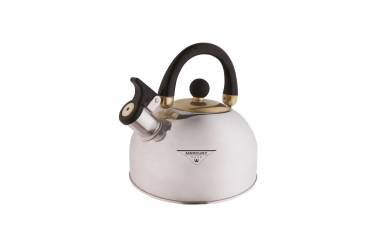 Чайник со свистком MercuryHaus MC-7809 нерж сталь/черный пластик 3,5 л