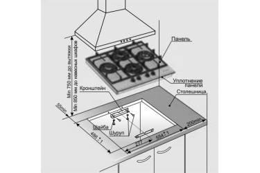 Газовая варочная поверхность Gefest ПВГ 2231-08 К3 черный