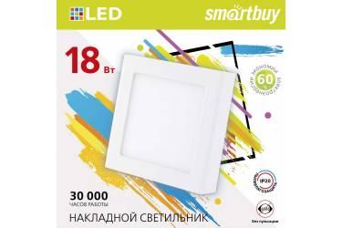 Накладной (LED) светильник Square SDL Smartbuy-18w/4000K/IP20 _квадрат_210/210x28