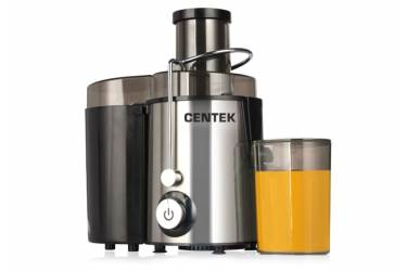 Соковыжималка центробежная Centek CT-1209 черный, сталь 600Вт, 2 скор. + Pulse, стакан 1л, горловина 65мм