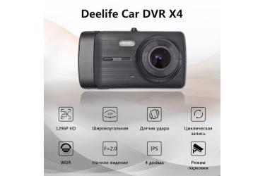 Видеорегистратор DVR DeeLife X4 1296/1080 Full HD GPS Black