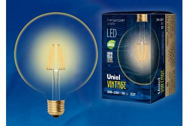 Лампа светодиодная Uniel Vintage LED-G125-8W/GOLDEN/E27