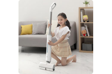 Швабра беспроводная моющая Xiaomi SWDK Micro Wet Electric Mop (DD1) White