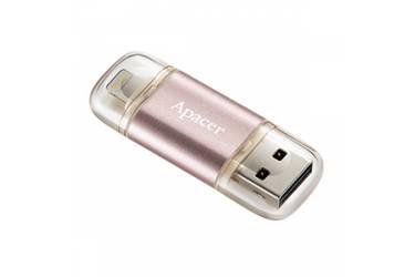 USB флэш-накопитель 64GB Apacer Lightning Dual AH190 (iPhone/iPad) розовый USB3.1