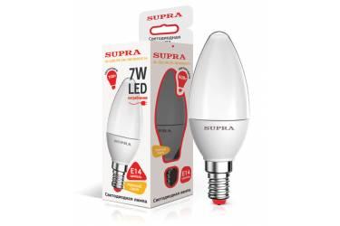 Лампа светодиодная SUPRA_PR_C37-07W/3000/E14 _свеча