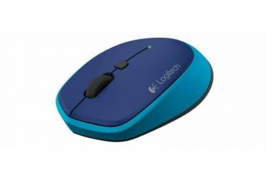 Мышь Logitech M335 синий оптическая (1000dpi) беспроводная USB (3but)