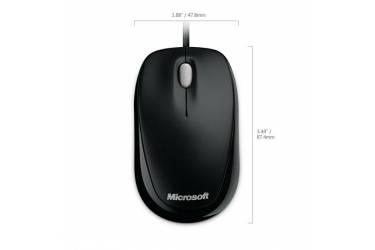 Мышь Microsoft 500 Compact черный оптическая (800dpi) USB для ноутбука (2but)
