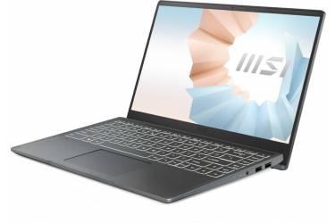 """Ноутбук MSI Modern 14 B4MW-406RU Ryzen 5 4500U/8Gb/SSD256Gb/AMD Radeon/14""""/IPS/FHD (1920x1080)/Windows 10 Home/grey/WiFi/BT/Cam"""