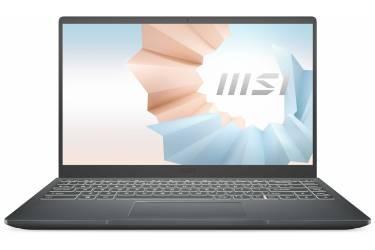 """Ноутбук MSI Modern 14 B4MW-253RU Ryzen 5 4500U/8Gb/SSD256Gb/AMD Radeon/14""""/IPS/FHD (1920x1080)/Windows 10 Home/grey/WiFi/BT/Cam"""
