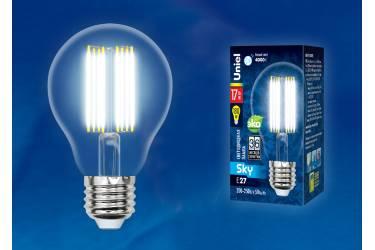 Светодиодная (LED) Лампа FIL (прозрачная) Uniel LED-A70-17W/4000K/E27/CL PLS02WH