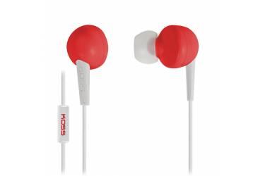 Наушники Koss KEB6i R Red внутриканальные с микрофоном