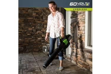 Воздуходувка Greenworks GD60AB пит.:от аккум. черный/зеленый