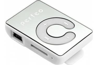 Портативный цифровой плеер Perfeo Music Clip Color белый