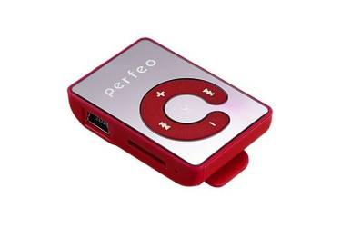 Портативный цифровой плеер Perfeo Music Clip Color красный