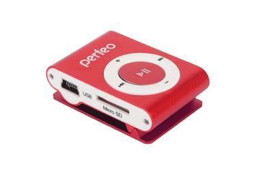 Портативный цифровой плеер Perfeo Music Clip Titanium 4 Gb бордовый