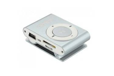 Портативный цифровой плеер Perfeo Music Clip Titanium 4 Gb серебристый