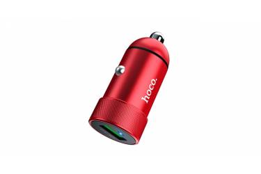 АЗУ Hoco Z32 Speed Up single port QC3.0 car charger red