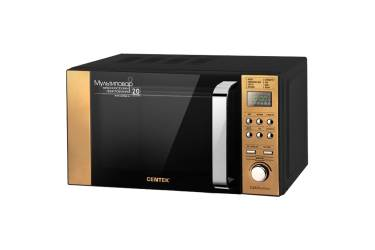 Микроволновая печь Centek CT-1584 GOLD 700W, 20л, 8 режимов, хромированные переключатели, таймер, подсветка