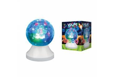 Светильник светодиодный диско шар Volpe ULI-Q311 3,5W/RGB WHITE ДИСКО ШАР Свечение 3D звёзды