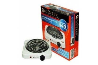 Плитка электрическая Centek CT-1508 (белая) 1конфорка ТЭН 140мм, 1000Вт, индикатор работы