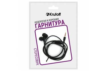 Наушники Krutoff HF-Z67 внутриканальные c микрофоном черные