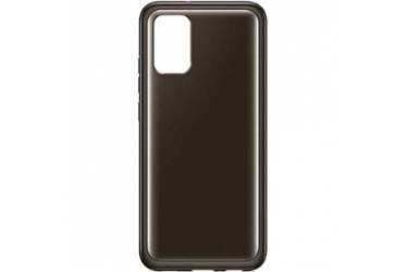 Оригинальный чехол (клип-кейс) для Samsung Galaxy A02s  clear cover черный  (EF-QA025TBEGRU)