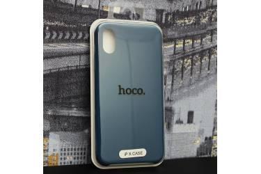 Силиконовый чехол HOCO PURE Series для iPhone X Navy Blue