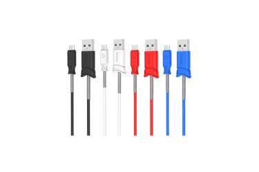 Кабель USB Hoco X24m Pisces MicroUSB (красный)